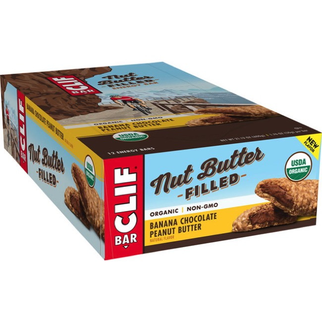 Clif Bar Nut Butter Filled Bars - Banana Chocolate Peanut Butter (Box of 12)