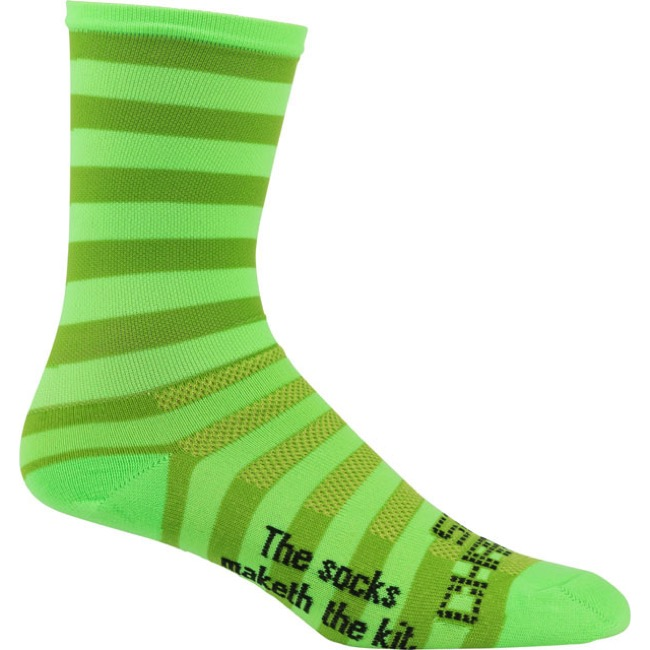 "DeFeet Aireator 6"" SaKO7 Socks - Chartreuse Green - Large (Chartreuse Green)"