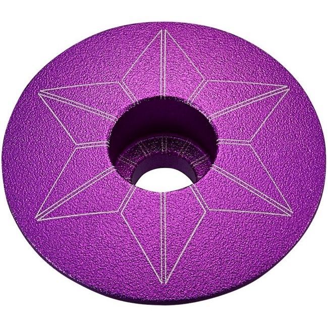 Supacaz Star Capz Headset Top Cap - 1 1/8 Inch (Purple Ano)