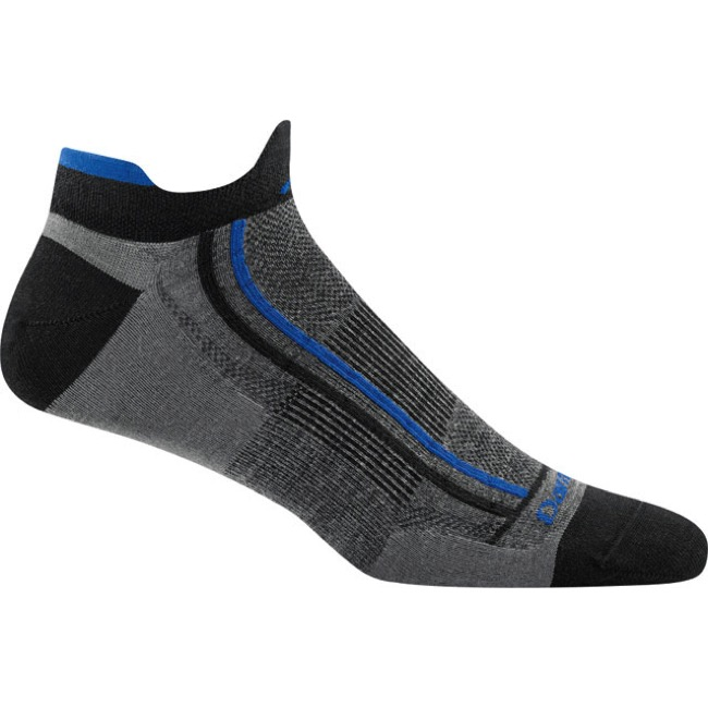 Darn Tough Mini Tab Ultra-Light Socks - Racer Gray - Large, Size 10-12 (Gray)