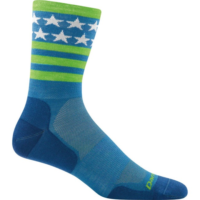 Darn Tough Micro Crew Ultra-Light Socks - Stars/Stripes Blue - Medium, Size 7.5-9.5 (Stars/Stripes Blue)