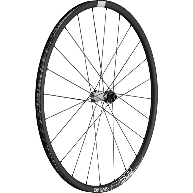 DT Swiss ER 1600 Spline 23 Disc Wheels - 700c Front, 9x100mm QR/12x100mm TA/15x100mm TA (Black)