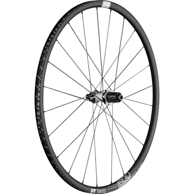 DT Swiss ER 1600 Spline 23 Disc Wheels - 700c Rear, 10x135mm QR/12x142mm TA (Black)