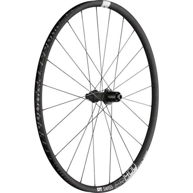 DT Swiss ER 1400 Spline 21 Disc Wheels - 700c Rear, 10x135mm QR/12x142mm TA (Black)
