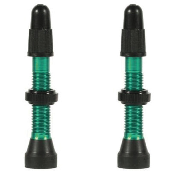 WTB Aluminum TCS Presta Valves - 34mm, Pair (Green)