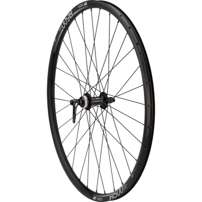 "Shimano RS505/DT Swiss R500db Front Wheel - 27.5"" - 27.5"" x 32h x 9x100mm QR (Black)"