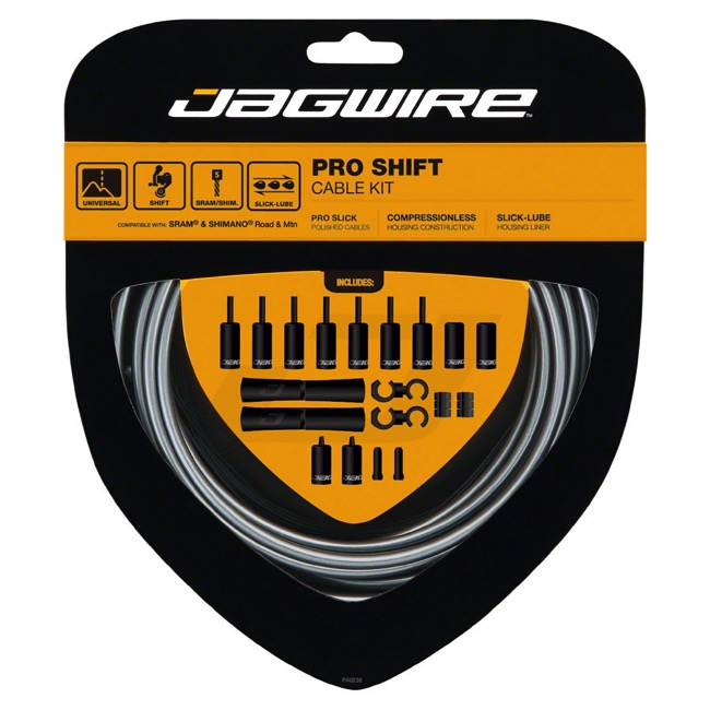 Jagwire Universal Pro Derailleur Cable/Housing - Ice Gray