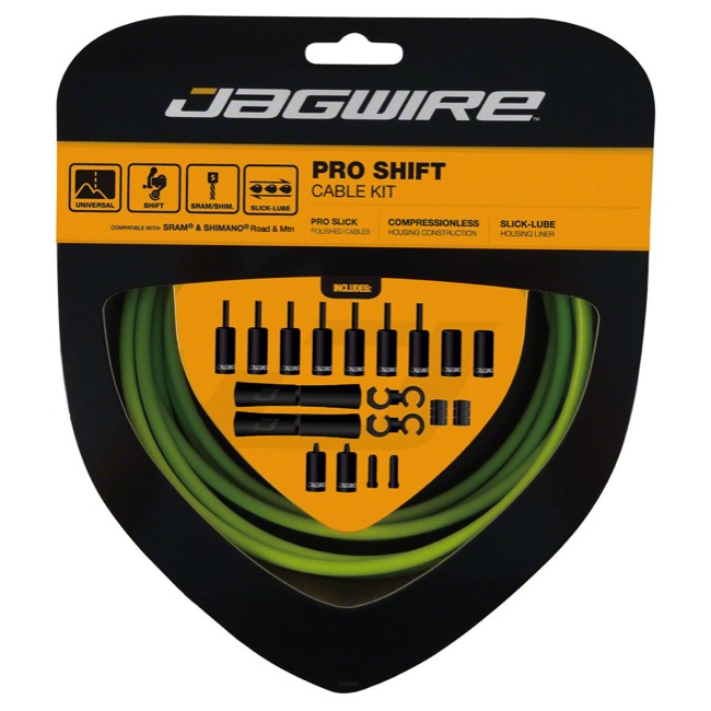 Jagwire Universal Pro Derailleur Cable/Housing - Organic Green