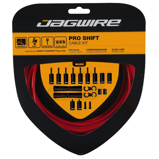 Jagwire Universal Pro Derailleur Cable/Housing - Red