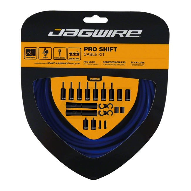Jagwire Universal Pro Derailleur Cable/Housing - SID Blue