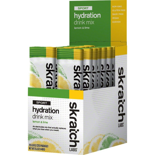 Skratch Labs Sport Hydration Drink Mix - Lemons and Limes (Box of 20)