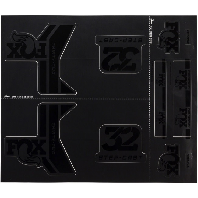 Fox Racing Shox Heritage Decal Sets 2017 - Stealth Black (Step-Cast Specific)