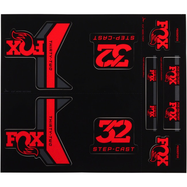 Fox Racing Shox Heritage Decal Sets 2017 - Red (Step-Cast Specific)