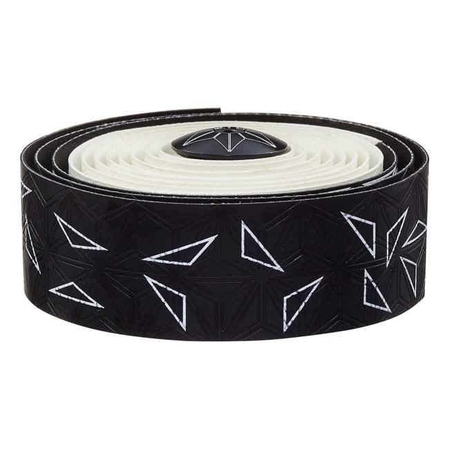 Supacaz Super Sticky Kush Bar Tape - Starfade Black and White