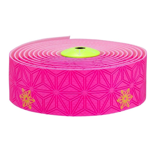 Supacaz Super Sticky Kush Bar Tape - Galaxy Pink w/Neon Yellow