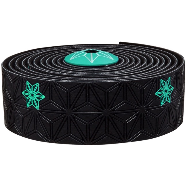 Supacaz Super Sticky Kush Bar Tape - Galaxy Black w/Celeste