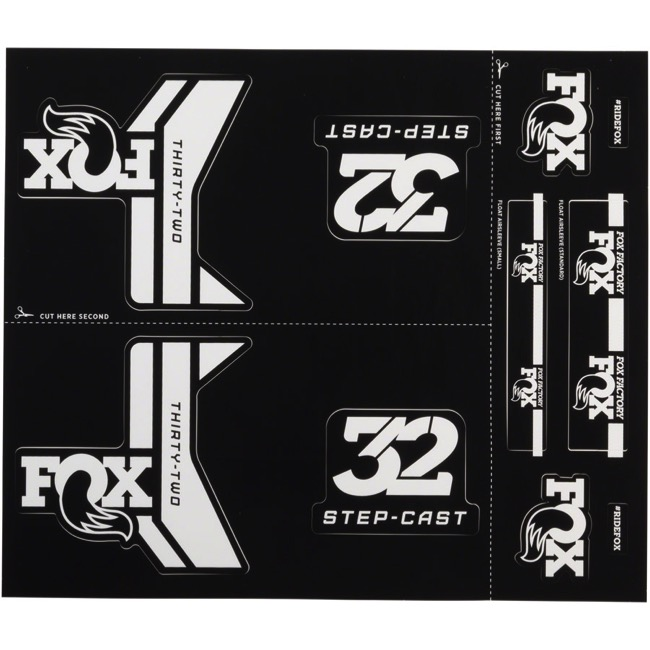 Fox Racing Shox Heritage Decal Sets 2017 - White/Grey (Step-Cast Specific)