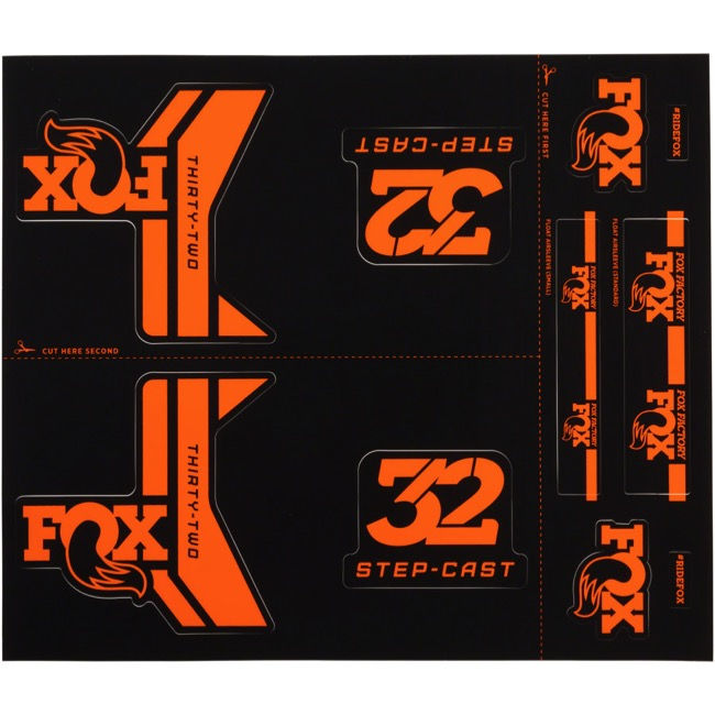 Fox Racing Shox Heritage Decal Sets 2017 - Orange (Step-Cast Specific)