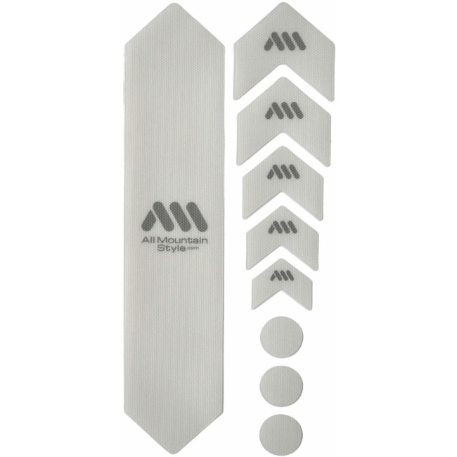 All Mountain Style Basic Honeycomb Frame Guard - Basic (Clear/Silver)