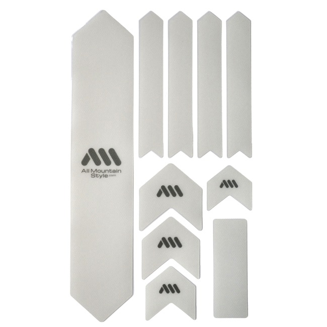 All Mountain Style Basic Honeycomb Frame Guard - Extra (Clear/Silver)