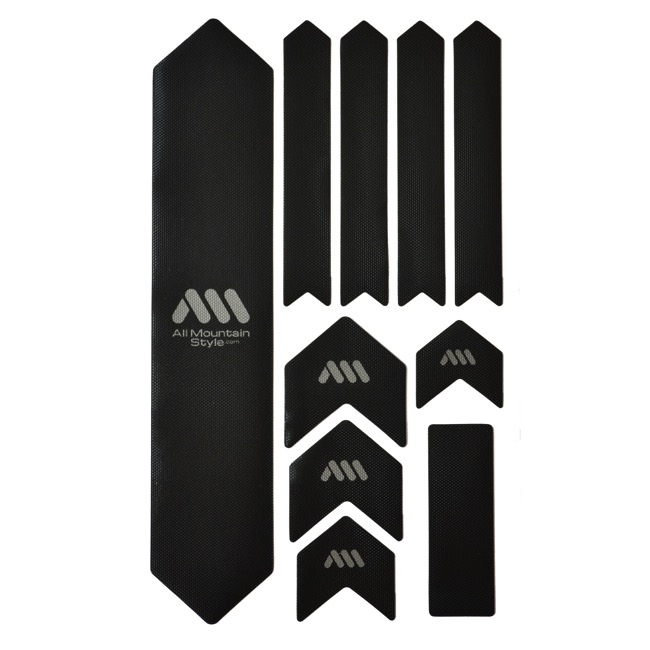 All Mountain Style Basic Honeycomb Frame Guard - Extra (Black/Silver)