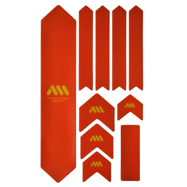 All Mountain Style Basic Honeycomb Frame Guard - Extra (Orange/Yellow)