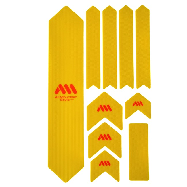 All Mountain Style Basic Honeycomb Frame Guard - Extra (Yellow/Orange)