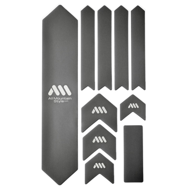 All Mountain Style Basic Honeycomb Frame Guard - Extra (Silver/White)