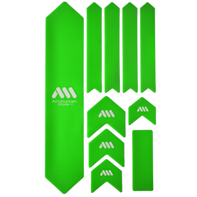 All Mountain Style Basic Honeycomb Frame Guard - Extra (Green/White)