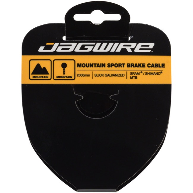 Jagwire Sport Slick Galvanized Brake Cables - Shimano/SRAM 2000mm (Mountain Only)
