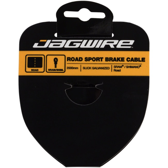 Jagwire Sport Slick Galvanized Brake Cables - Shimano/SRAM 2000mm (Road Only)