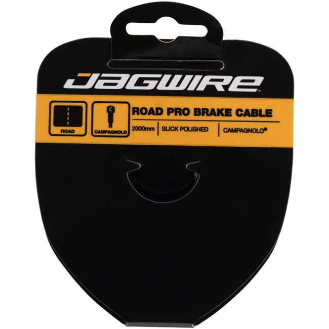Jagwire Pro Slick Polished Stainless Brake Cables - Polished/Stainless 2000mm (Campagnolo Road Only)