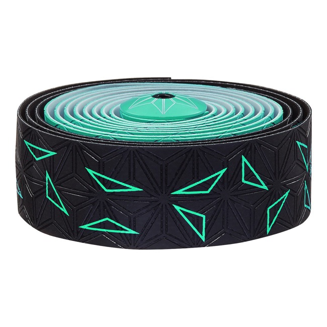 Supacaz Super Sticky Kush Bar Tape - Starfade Black and Celeste