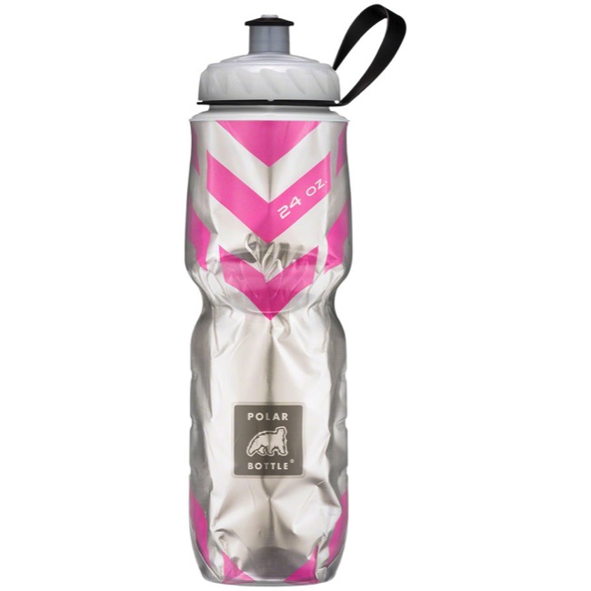 Polar Bottle Insulated Water Bottle - 24 Ounce - 24 oz. (Pink Chevron)