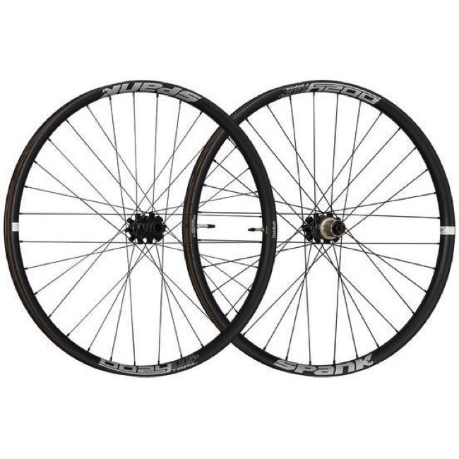 "Spank Oozy Trail 395+ ""Boost"" 29"" Wheelset - Front, 15x110mm TA / Rear, 12x148mm TA, Sram XD (Black)"