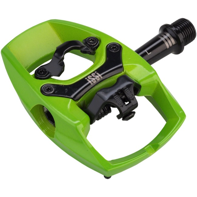 iSSi Flip III Pedals - Pair (Lime Green)