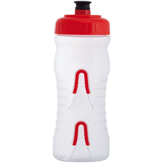 Fabric Cageless Water Bottle - 20 oz Bottle w/Mount (Clear/Red)