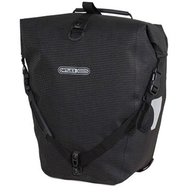 Ortlieb Back-Roller Hi Viz Rear Panniers 2018 - Hi Viz Black/Black Reflex (Single Bag)