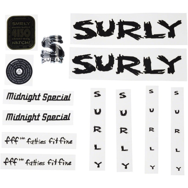 Surly Midnight Special Decal Set - Black