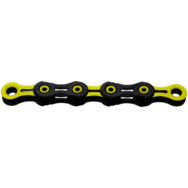 KMC X-11SL DLC Superlight Chains - 11 Speed (Black/Yellow)