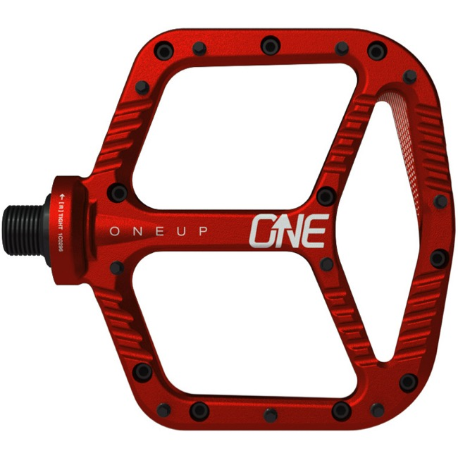 OneUp Components Aluminum Platform Pedals - Pair (Red)