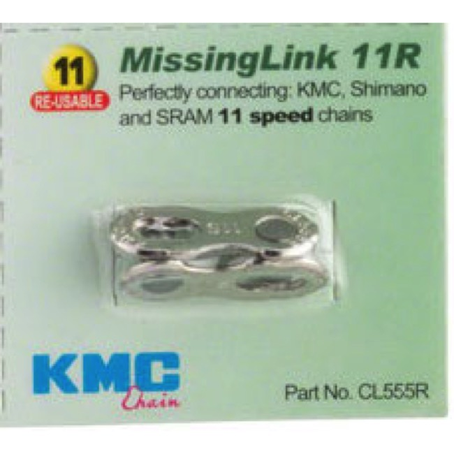 KMC Missing Link Connectors - MissingLink-11R 11sp Chain, Re-usable, KMC/Shimano/Sram (Each)