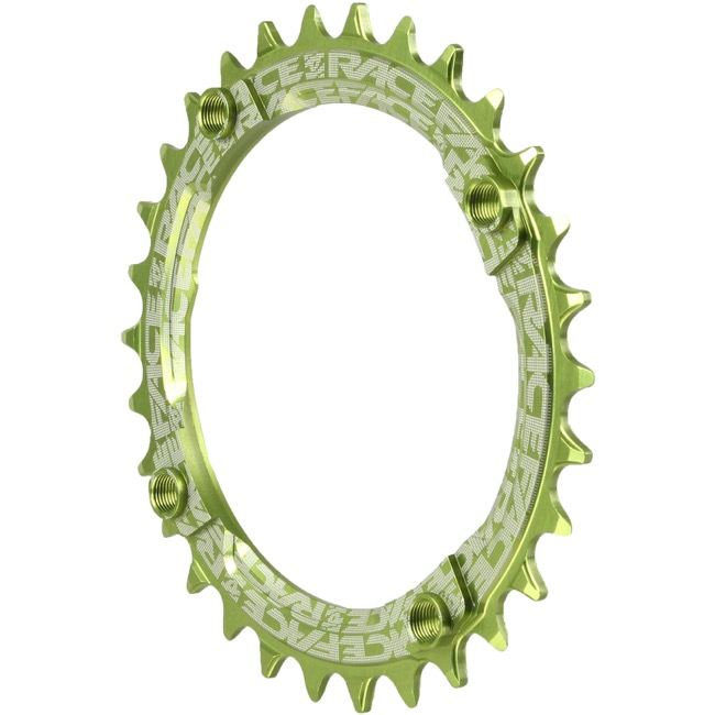 Race Face Narrow Wide Chainrings - 9/10/11/12 Speed - 104mm x 30t (Green)