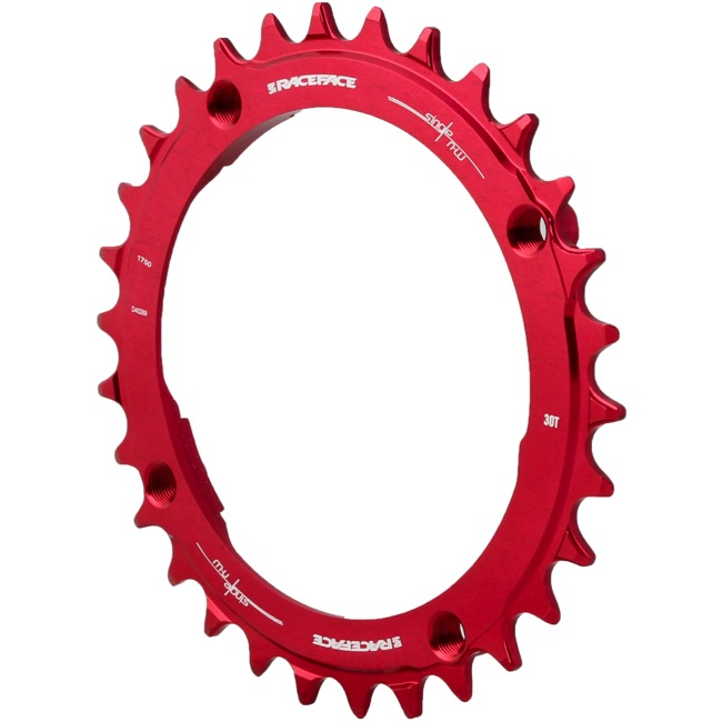 Race Face Narrow Wide Chainrings 2018 - 9/10/11/12 Speed - 104mm x 30t (Red)
