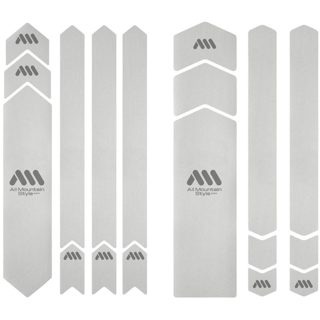 All Mountain Style Basic Honeycomb Frame Guard - Full Protection (Clear/Silver)