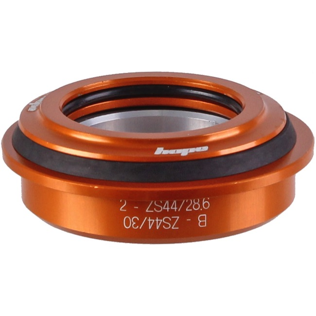 "Hope ZS44 1 1/8"" Upper Cup Assembly - ZS44 Upper Assembly, 1 1/8"" Tapered Steerer (Orange)"