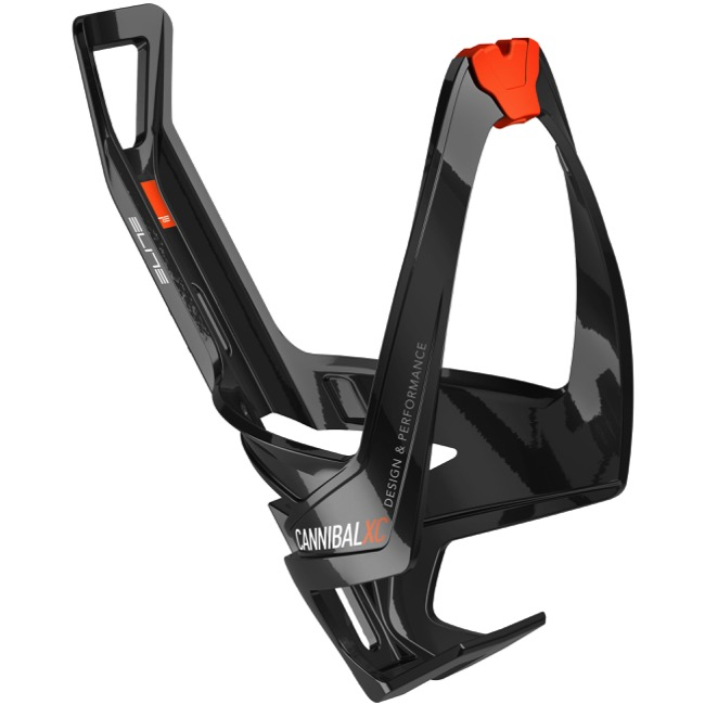 Elite Cannibal XC Water Bottle Cages - Glossy Black/Orange