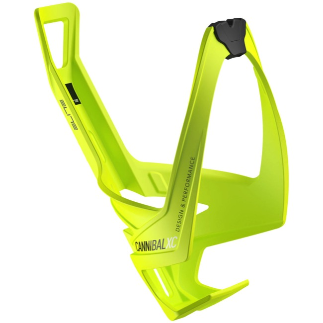 Elite Cannibal XC Water Bottle Cages - Glossy Fluorescent Yellow/Black