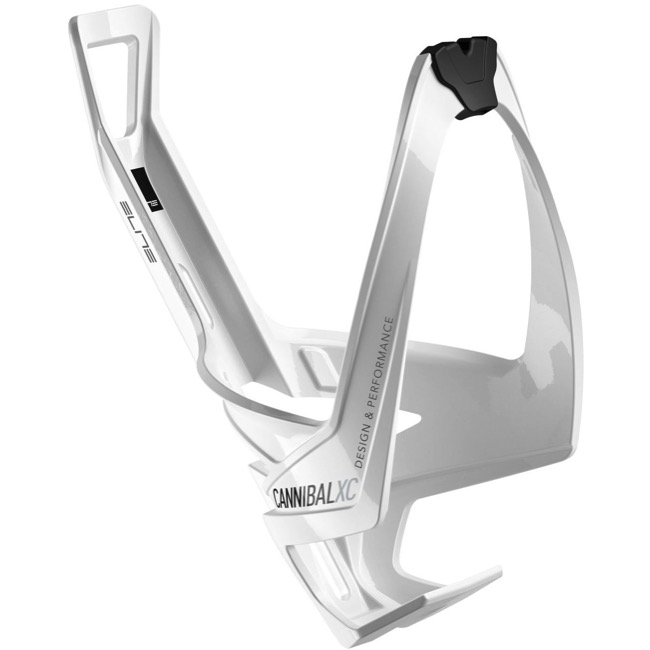Elite Cannibal XC Water Bottle Cages - Glossy White/Black