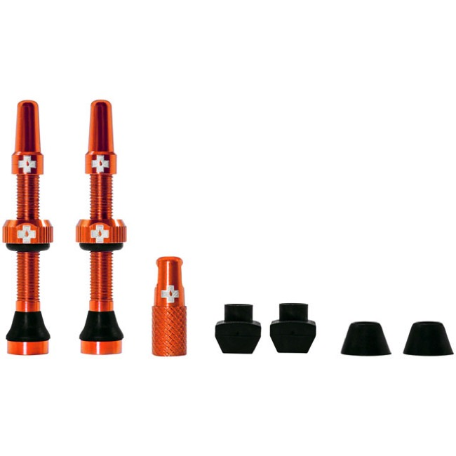 Muc-Off Tubeless Valve Kit - 44mm Valve Kit (Orange)